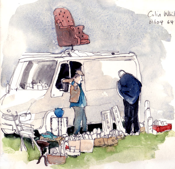 Car boot sale sketch