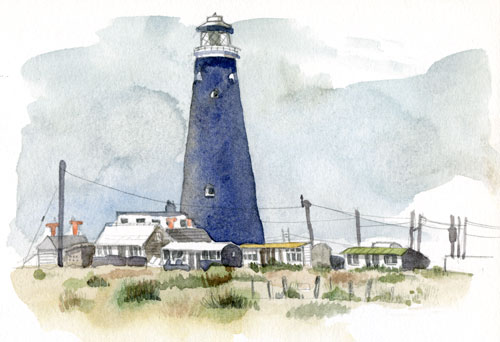 Dungeness lighthouse painting