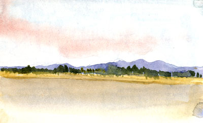 Travel sketchbook diary, London-Singapore by train: Mekong boat